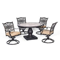 Hanover Monaco 5 Piece Dining Set with Four Swivel Rockers For Sale https://patioporchswings.info/hanover-monaco-5-piece-dining-set-with-four-swivel-rockers-for-sale/