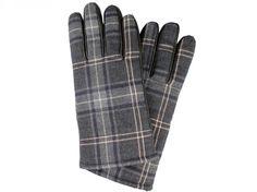 Guantes de caballero en piel y textil con estampado escocés en tonos grises. Piel suave al tacto y con forro interior. Además incluye huella táctil para que puedas usarlos con tus gadgets tecnológicos sin necesidad de quitártelos.<br> Talla S