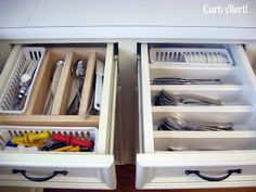 My inspiration for my silverware drawer. I haven't completed any others in the kitchen, but will update them when I do. (Curb Alert!: Organizing Chaos Updating Kitchen Drawers)