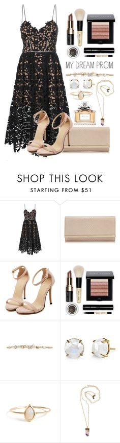 """""""Your New Dream Dress"""" by may-calista ❤ liked on Polyvore featuring self-portrait, Jimmy Choo, Bobbi Brown Cosmetics, Valentino, Irene Neuwirth, Peggy Li, Christian Dior, Prom and promdoover"""