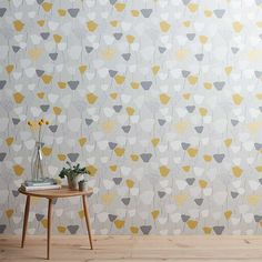 Buy John Lewis & Partners Elin Wallpaper, Citrine from our Wallpaper range at John Lewis & Partners. Hallway Wallpaper, Dining Room Wallpaper, Go Wallpaper, Wallpaper Ideas, Bedroom Wallpaper, Wallpaper Lounge, Cottage Wallpaper, Wallpaper Online, Mustard And Grey Wallpaper