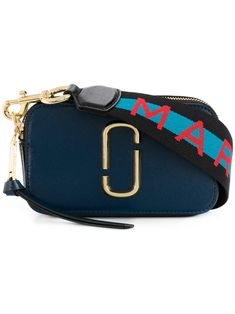 Marc Jacobs Snapshot Leather Shoulder Bag In Blue Calf Leather, Leather Shoulder Bag, Shoulder Strap, Shoulder Bags, Marc Jacobs Snapshot Bag, Marc Jacobs Bag, Marc Jacobs Designer, Branded Bags, Goodie Bags