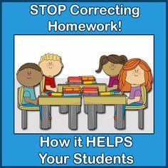 Stop Bringing Home Homework to Correct!  Via Shut the Door and Teach