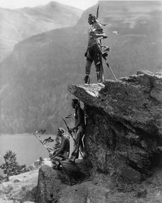 Native Americans at at Glacier National Park, Montana c.1910 [1078 × 1350, Photo by Roland W. Reed] - Imgur