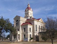 Bandera County Courthouse- Bandera, Texas, Date - 1890, Architect - B. F. Trester, Style - Renaissance Revival, Material - Native limestone. Photo courtesy Terry Jeanson.