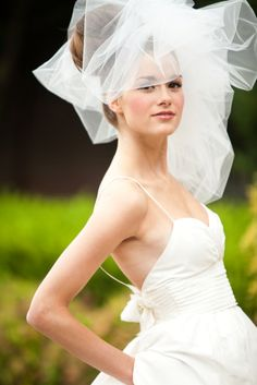 Wedding Hair veil Classy Bubble Veil by FascinatingCreations