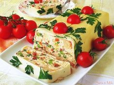 Vegetable Terrine With Cheese. Vegetable Terrine With Cheese. Gelatin Recipes, Milk Recipes, Cheese Recipes, Cooking Recipes, Retro Recipes, Vintage Recipes, Bratwurst, Protein Foods, Charcuterie
