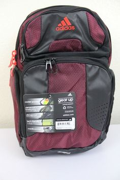 748cf7756a4 adidas climacool strength backpack laptop storage media pocket water  resistant