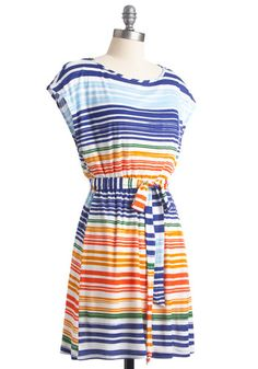 modcloth What Did You Expectrum? striped dress