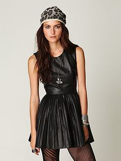 $149.95 vegan leather dress, so many possibilities. Totally bought it.