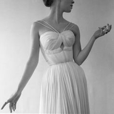 So gorgeous: cutout and swirl and straps and double waistline and thin pleats