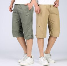 114fe2f4177 quinquagenarian casual cargo shorts capris men s clothing beach cotton  short men korte broek mannen fasther wear