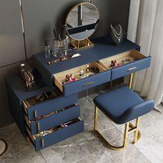 Modern Makeup Vanity, Makeup Table Vanity, Wood Vanity, Makeup Vanities, Makeup Tables, Bedroom Makeup Vanity, Modern Vanity Table, Vanity Table Set, Makeup Desk