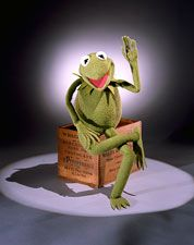 """Hi ho, Kermit the frog here."" Kermit is the creation and alter ego of master puppeteer Jim Henson. He served as a crusader for tolerance through his hit song ""(It's Not Easy) Being Green. Miss Piggy, Jim Henson, Beatrix Potter, Les Muppets, Funny Quotes, Funny Memes, Jokes, Fraggle Rock, The Muppet Show"
