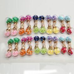 2016 New Glass Ball Imitation Zircon EarringsTransparent Pentagram(comes 3 pairs #Unbranded #Fashion