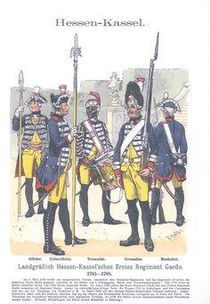 Band XV #45.- Hessen-Kassel. Landgräflich Hessen Kaasel'sches Erstes Regiment Garde. 1785-1788.