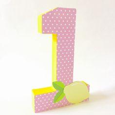Pink lemonade party, Pink lemonade birthday, Block numbers, First Birthday Photo Prop, Pink Lemonade centerpiece, First birthday by Craftytude on Etsy https://www.etsy.com/listing/246829022/pink-lemonade-party-pink-lemonade