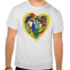 I heart parrots cute cartoon tshirts. Available for women, kids and babies clothing too. #zazzle #petopet #parrot #bird #lovebird #lutino #cockatoo #africangrey #caique #electus #budgie #cockatiel #afgrey #lorikeet #quacker #macaw #kea #rosella #design #sale #emmil #merchandise #deviantart #cute #heart #parakeet #parrots #tshirt #tshirts #white #kawaii #cartoon #cartoony #male #man #men #boy #boys
