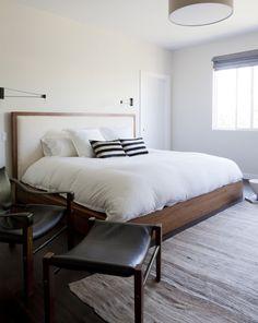 Black Cord Sconce, Brendan Ravenhill in Venice apartment by SIMO Design