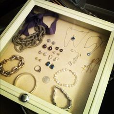 DIY Shadow Box for Jewelry jewelry Pinterest Shadow box and