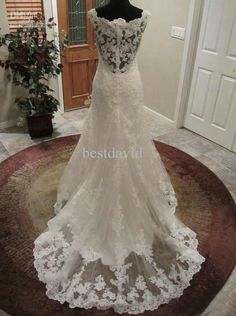 Pics For > Sexy Open Back Lace Wedding Dress