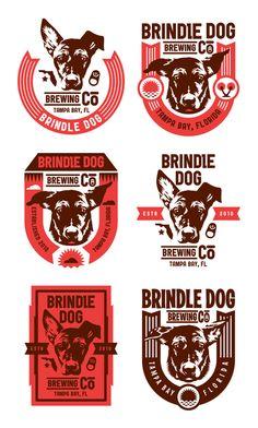 Brindle Dog Brewing Co. by Kendrick Kidd, via Behance
