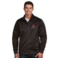 Ryan Newman Antigua Golf Full-Zip Jacket - Black