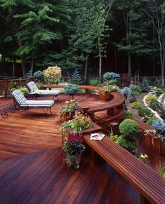 Amazing Wooden deck - ▇  #Home #Outdoor #Landscape  via - Christina Khandan  on IrvineHomeBlog - Irvine, California ༺ ℭƘ ༻