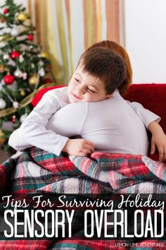 Tips for Reducing Sensory Overload during the Holidays. Great tips for all children, not just kids with sensory processing disorder. Autism Sensory, Sensory Activities, Sensory Play, Learning Activities, Kids Learning, Autism Learning, Sensory Therapy, Sensory Table, Therapy Activities