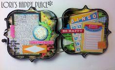 Lori's Happy Place: Genuinely Jane Studios Meets Ruby Rock-it Nostalgia #album #distress stencil #bracket