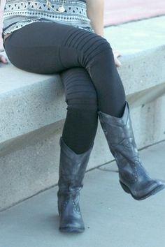 Rider Leggings #nanamacs.com #nanamacs_boutique Fall Fashion Outfits, Autumn Fashion, Women's Fashion, Nanamacs Boutique, Great Women, Dress Me Up, Yoga Pants, New Look, Gardening