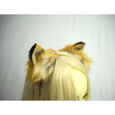 Red Fox Ears Headband Real Taxidermy Kitsune Anime Costume Cosplay... ($55) ❤ liked on Polyvore featuring grey, home & living, home décor and taxidermy & curiosities
