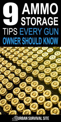 9 Ammo Storage Tips That Every Gun Owner Should Know Cartridges can weaken and break, primers can lose their zing, and bullets can even corrode and lose mass. Avoid all these potential risks with these ammo storage tips. Survival Weapons, Survival Life, Weapons Guns, Wilderness Survival, Guns And Ammo, Survival Prepping, Survival Skills, Survival Hacks, Emergency Preparedness