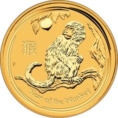 Australian Lunar Gold Coin Series II - Monkey 2016 Part of the Perth Mint's incredible Lunar Series II collection, the 2016 gold coin celebrates the year of the Monkey in the Chinese Lunar Calendar. The limited circulation coin has a gold content of 99.99 per cent which together with its numismatic value makes the Lunar Monkey an essential coin for collectors and investors alike.