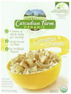 Cascadian Farm Organic Cereal, Cinnamon Crunch,9.2 Oz. - http://goodvibeorganics.com/cascadian-farm-organic-cereal-cinnamon-crunch9-2-oz/