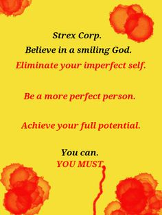 Strex Corp ad - Eliminate your imperfect self. by dameonmac14