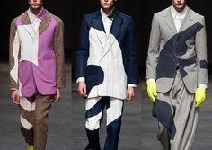 London Menswear Autumn/Winter 2014 Print Highlights Part 1 catwalks -Alan Taylor – Fall 2014 Taylors Falls, Geometric Fashion, Catwalk Collection, Mens Trends, Mens Fashion Week, Pattern Cutting, Textile Patterns, Fashion Details, Fashion Prints