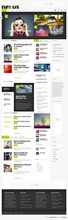 Nexus Magazine WordPress Theme #web #design