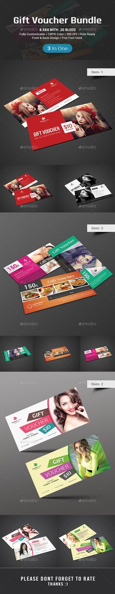 Gift Card Print templates - fitness gift certificate template