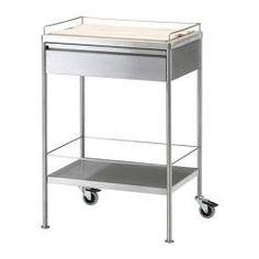 STENSTORP Kitchen cart, white, oak | Servierwagen, Ikea und ... | {Küchenwagen ikea 21}