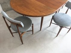 Extendable Dining Table and 4 Dining Chairs from G-Plan, 5 Extendable Dining Table, Dining Table Chairs, Dining Room, Scandinavian Dining Chairs, 1970s, Lights, How To Plan, Dinner, Furniture