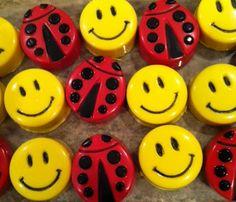 Ladybug & Smiley Faces. Chocolate Covered Oreos