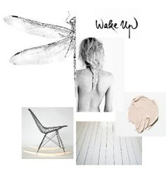 .mood board. - use a paint sample that reflects the trend palette.
