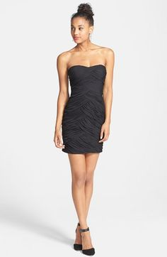 Hailey Logan Embellished Cutout Ruched Body-Con Dress (Juniors) available at #Nordstrom