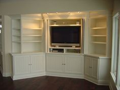 custom made corner tv cabinet | ... unit open Custom corner ...