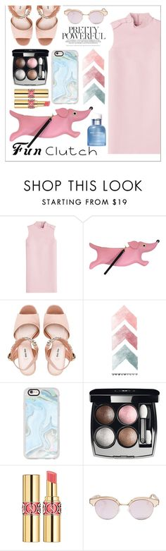 """pink"" by navyradr-1 ❤ liked on Polyvore featuring RED Valentino, PATCH NYC, Miu Miu, Casetify, Chanel, Yves Saint Laurent, Le Specs and Dolce&Gabbana"