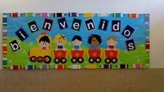 Tren Spring Bulletin Boards, Back To School Bulletin Boards, Preschool Bulletin Boards, School Classroom, Classroom Decor, Class Board Decoration, School Decorations, Kids Church, Kids Education