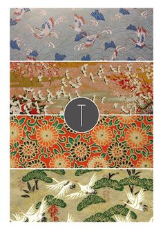 Oriental vibes - collection of traditional oriental pattern inspiring a new project that is coming soon.