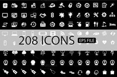 Check out 208 ICONS VECTOR SET (Buy 1 Get 1) by vito12 on Creative Market