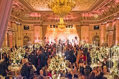 A star-studded wedding at thePlaza hotel in New York. (Photo: Christian Hansen for The New York Times)
